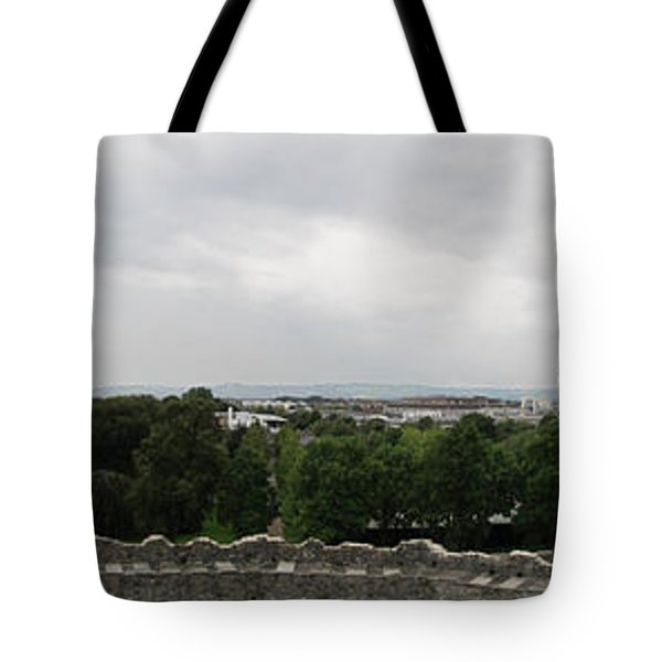 Cardiff Castle Panorama Tote Bag