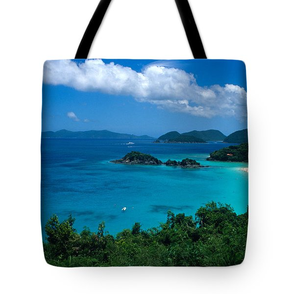 Caribbean Blue Tote Bag by Kathy Yates