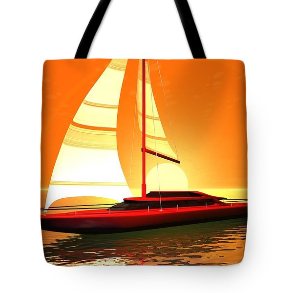 Tote Bag featuring the digital art Caribbean Cruiser by John Pangia