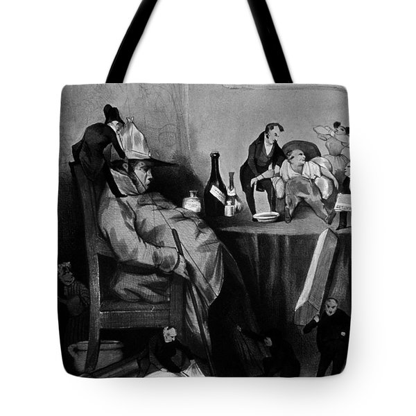 Caricature Of Hypochondriac, 1833 Tote Bag by Science Source