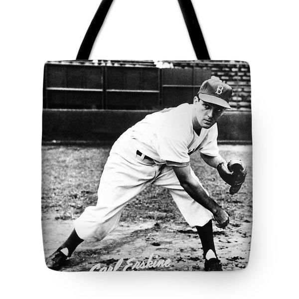 Carl Erskine (1926- ) Tote Bag by Granger