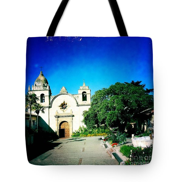 Tote Bag featuring the photograph Carmel Mission by Nina Prommer