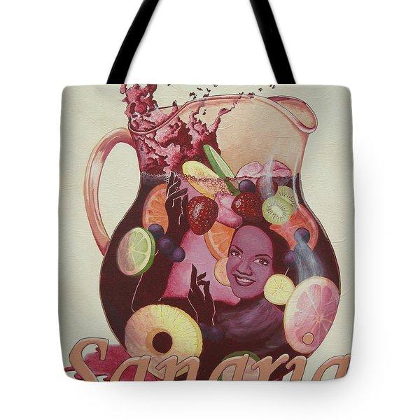 Carmen Miranda Sangria Tote Bag by Jennifer  Donald