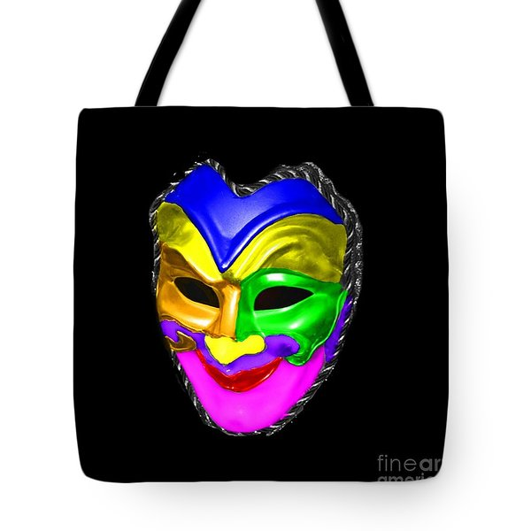 Tote Bag featuring the photograph Carnival Mask by Blair Stuart