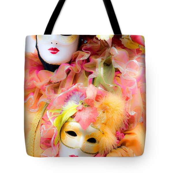 Tote Bag featuring the photograph Carnival Mask by Luciano Mortula