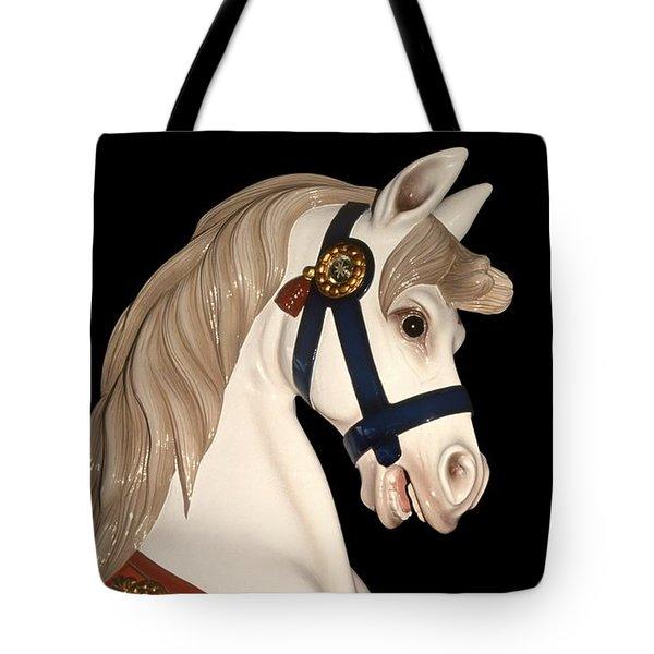 carnival ponies - Champagne Champion Prancing Tote Bag