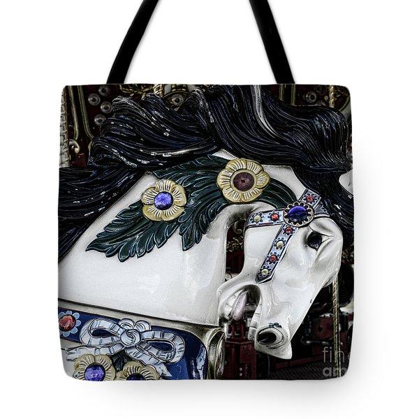 Carousel Horse - 9 Tote Bag by Paul Ward