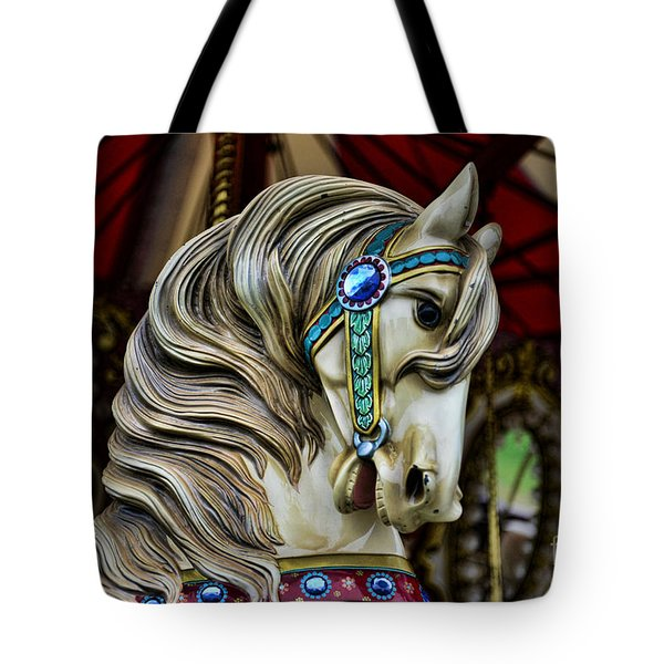 Carousel Horse 3 Tote Bag by Paul Ward