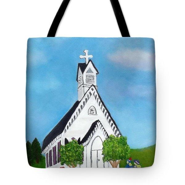Carpenter Gothic Church In Louisiana Tote Bag by Margaret Harmon