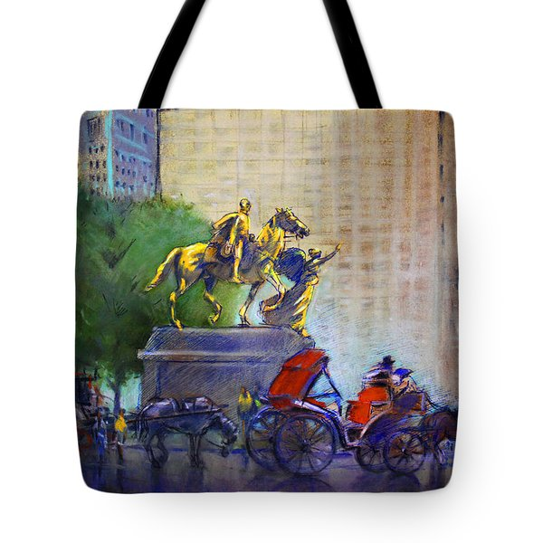 Carriage Rides In Nyc Tote Bag