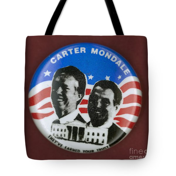 Carter Campaign Button Tote Bag by Granger
