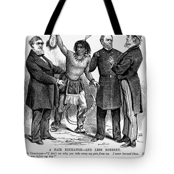 Cartoon: Native Americans, 1876 Tote Bag