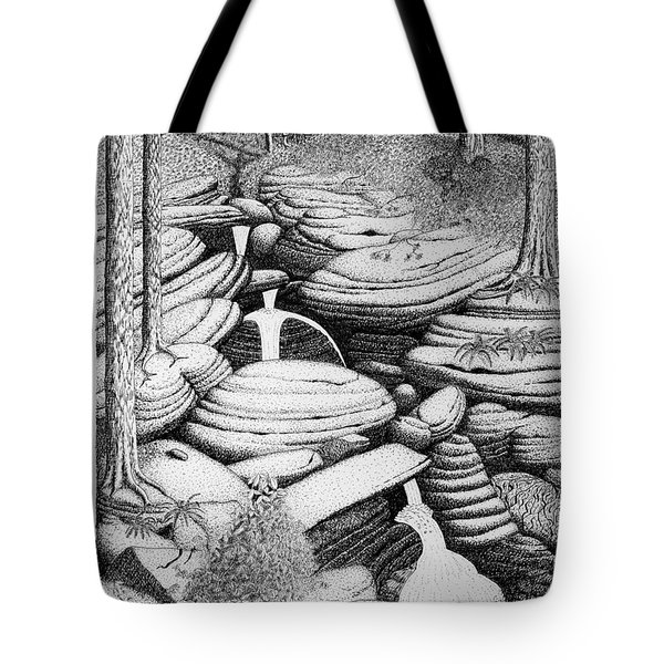 Cascade In Boulders Tote Bag