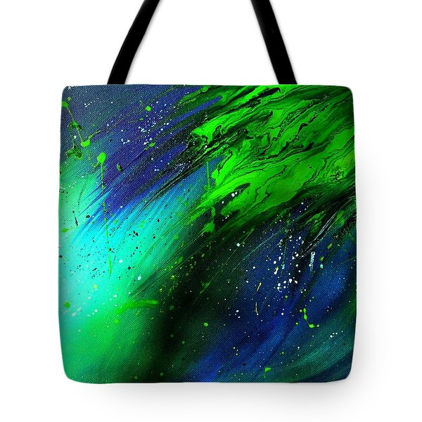 Tote Bag featuring the painting Cascade by Mary Kay Holladay