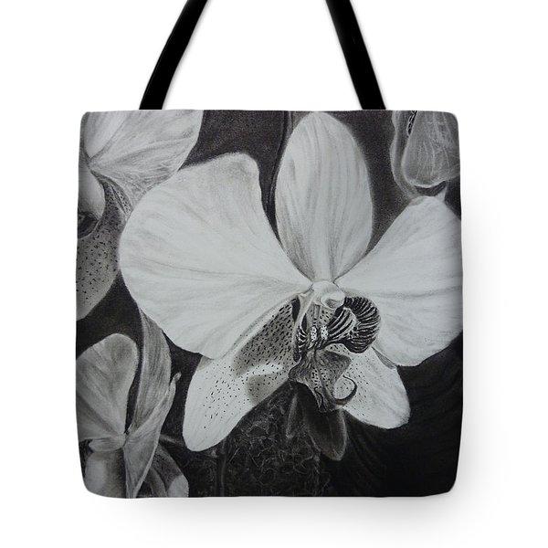 Cascade Of Orchidds Tote Bag by Estephy Sabin Figueroa