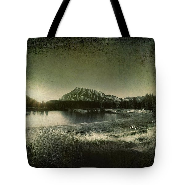 Cascade Pond Banff Tote Bag by Diane Dugas