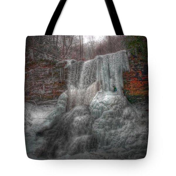 Cascades In Winter 3 Tote Bag