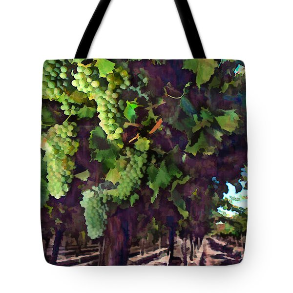 Cascading Grapes Tote Bag by Elaine Plesser