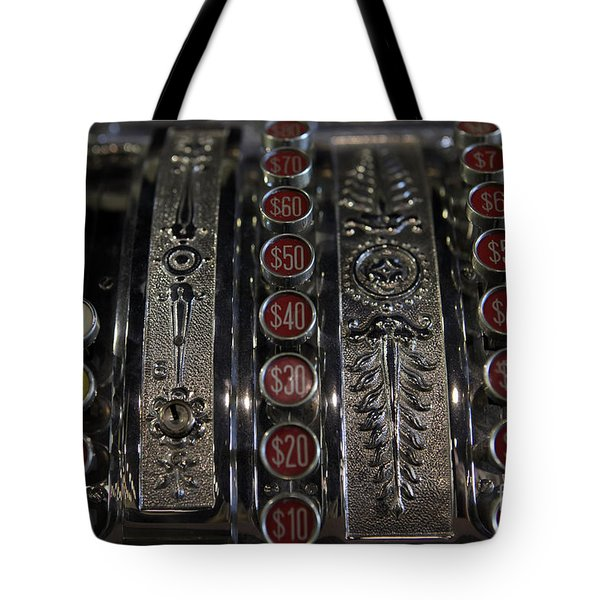 Tote Bag featuring the photograph Cash Register by Nina Prommer