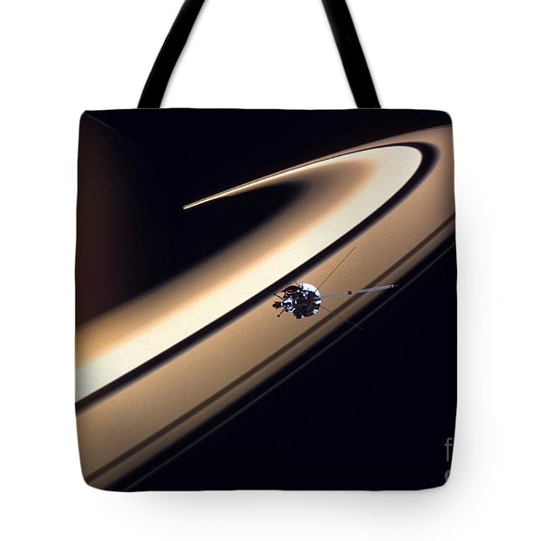Cassini Spacecraft Tote Bag by Gil Babin and Photo Researchers