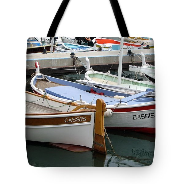 Cassis Harbor Tote Bag by Carla Parris