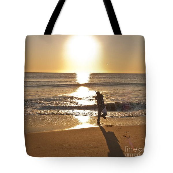 Tote Bag featuring the photograph Casting To The Sun by Jim Moore