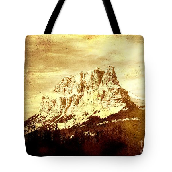 Castle Mountain Tote Bag by Alyce Taylor