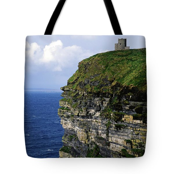 Castle On A Cliff, Obriens Tower Tote Bag by The Irish Image Collection