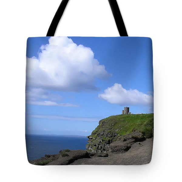 Castle On The Cliffs Of Moher Tote Bag by Bill Cannon
