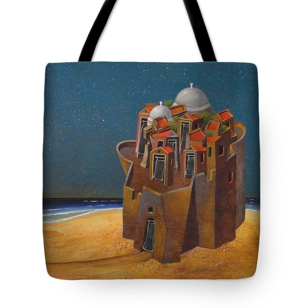 Castle With Two White Domes Tote Bag by Dimitris Milionis