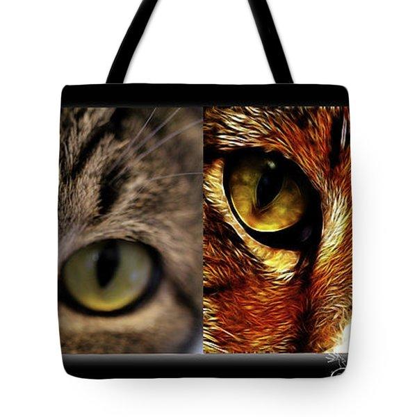 Cat Eyes Tote Bag by EricaMaxine  Price