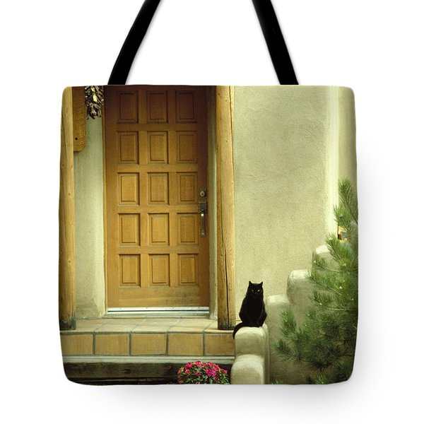 Tote Bag featuring the photograph Cat Post by Brent L Ander