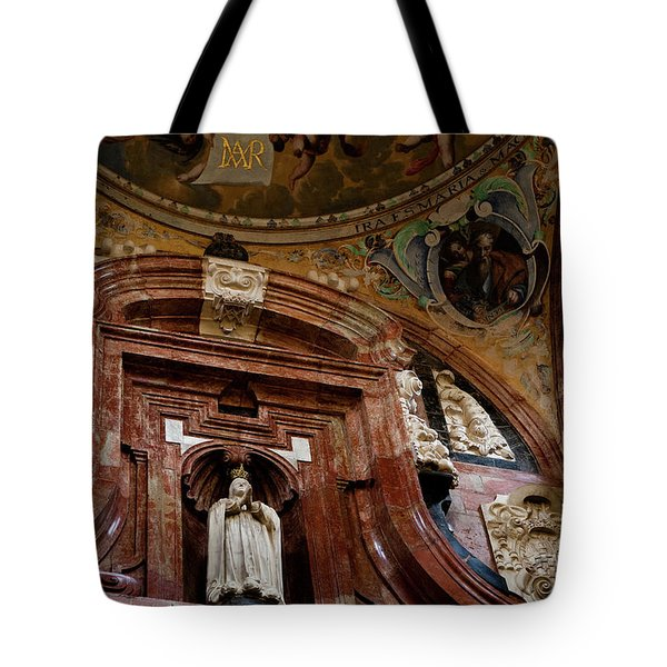 Tote Bag featuring the photograph Cathedral Ceiling Detail by Lorraine Devon Wilke