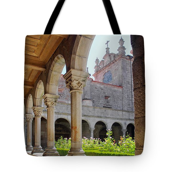 Cathedral Cloister Tote Bag by Carlos Caetano