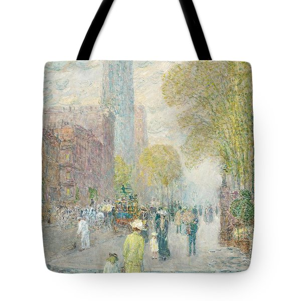 Cathedral Spires Tote Bag by Childe Hassam