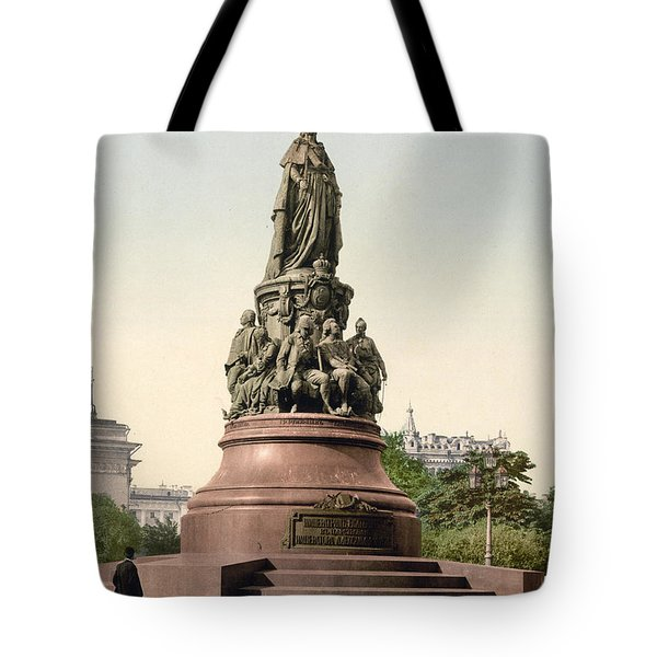 Catherine II Monument In St. Petersburg Russia Tote Bag by International  Images