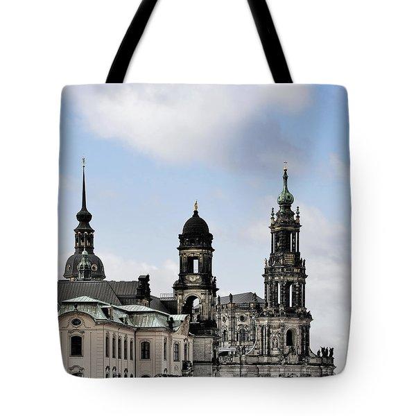 Catholic Church Of The Royal Court - Hofkirche Dresden Tote Bag by Christine Till