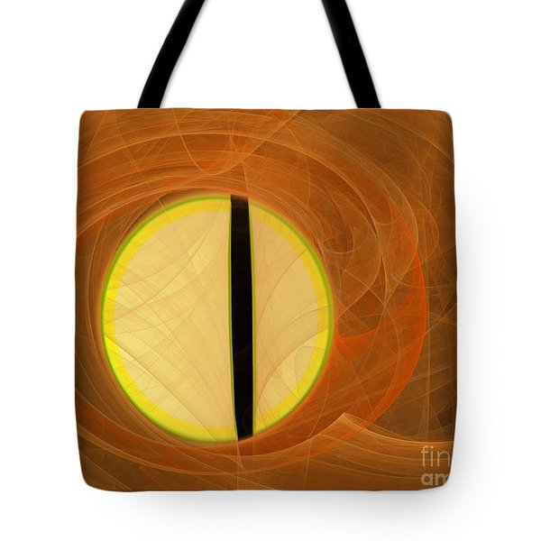 Tote Bag featuring the digital art Cat's Eye by Victoria Harrington
