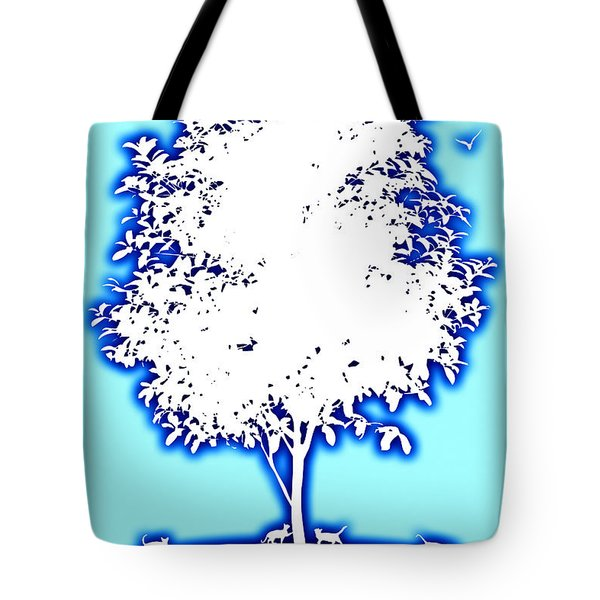 Cats In Heaven Tote Bag by David G Paul
