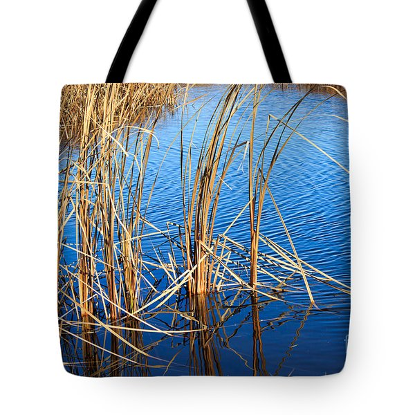 Cattail Reeds Tote Bag by Ms Judi