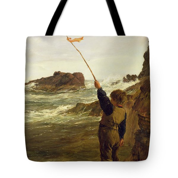 Caught By The Tide Tote Bag by James Clarke Hook