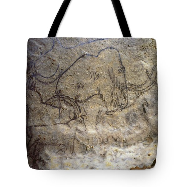 Cave Art - Mammoth And Ibexes Tote Bag by Granger