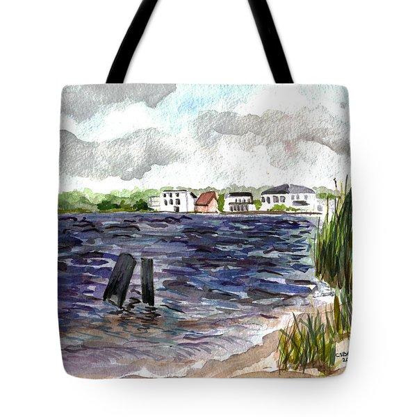 Tote Bag featuring the painting Cedar Beach by Clara Sue Beym
