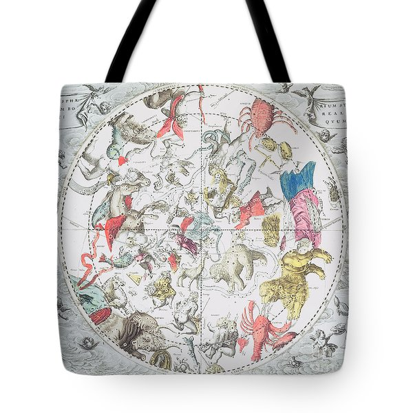Celestial Planisphere Showing The Signs Of The Zodiac Tote Bag by Andreas Cellarius