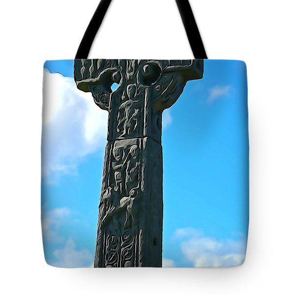 Tote Bag featuring the photograph Celtic Cross by Charlie and Norma Brock