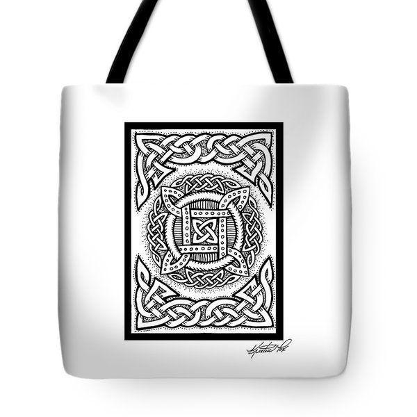 Celtic Four Square Circle Tote Bag