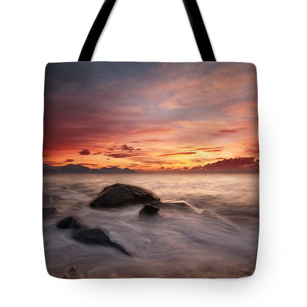 Celtic Sunset Tote Bag