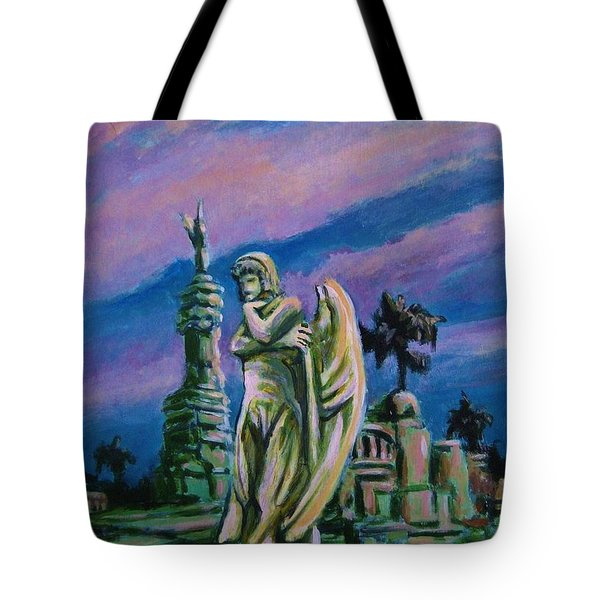 Cemetary Guardian Tote Bag by John Malone