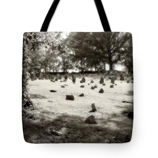 Cemetery At Mud Meeting House Tote Bag by Mark Jordan
