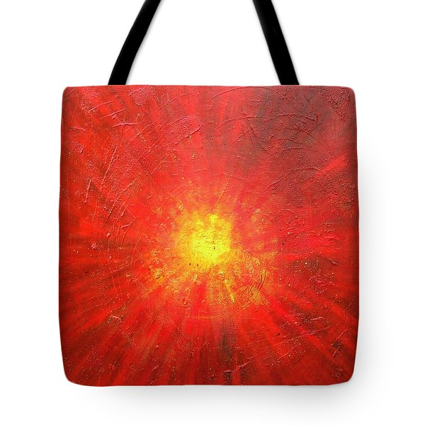 Tote Bag featuring the painting Centered by Mary Kay Holladay